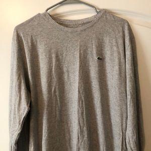 Men's Gray Lacoste Shirt
